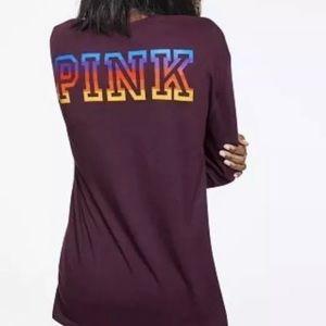 Victoria Secret Pink Long Sleeve  Tee V Neck